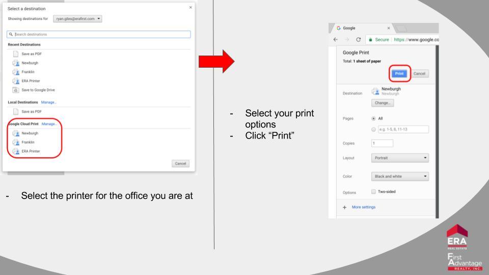 How To: Printing from ChromeOS (Chromebox/Chromebook