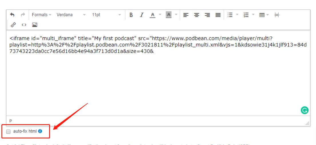 Embedding HTML/Scripts into My Podbean Post | Podbean Support