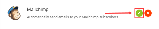 mailchimp app settings icon