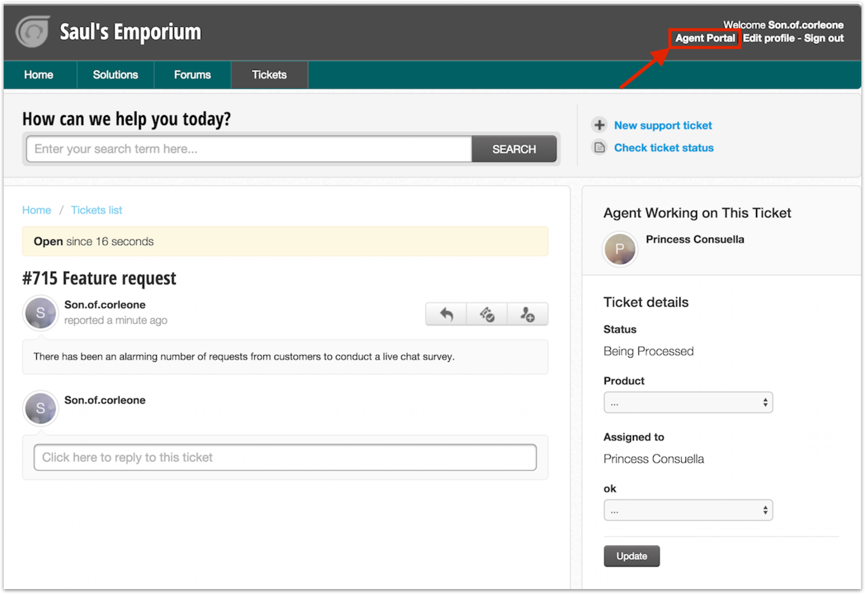 Creating A New Ticket From Agent Portal Freshdesk