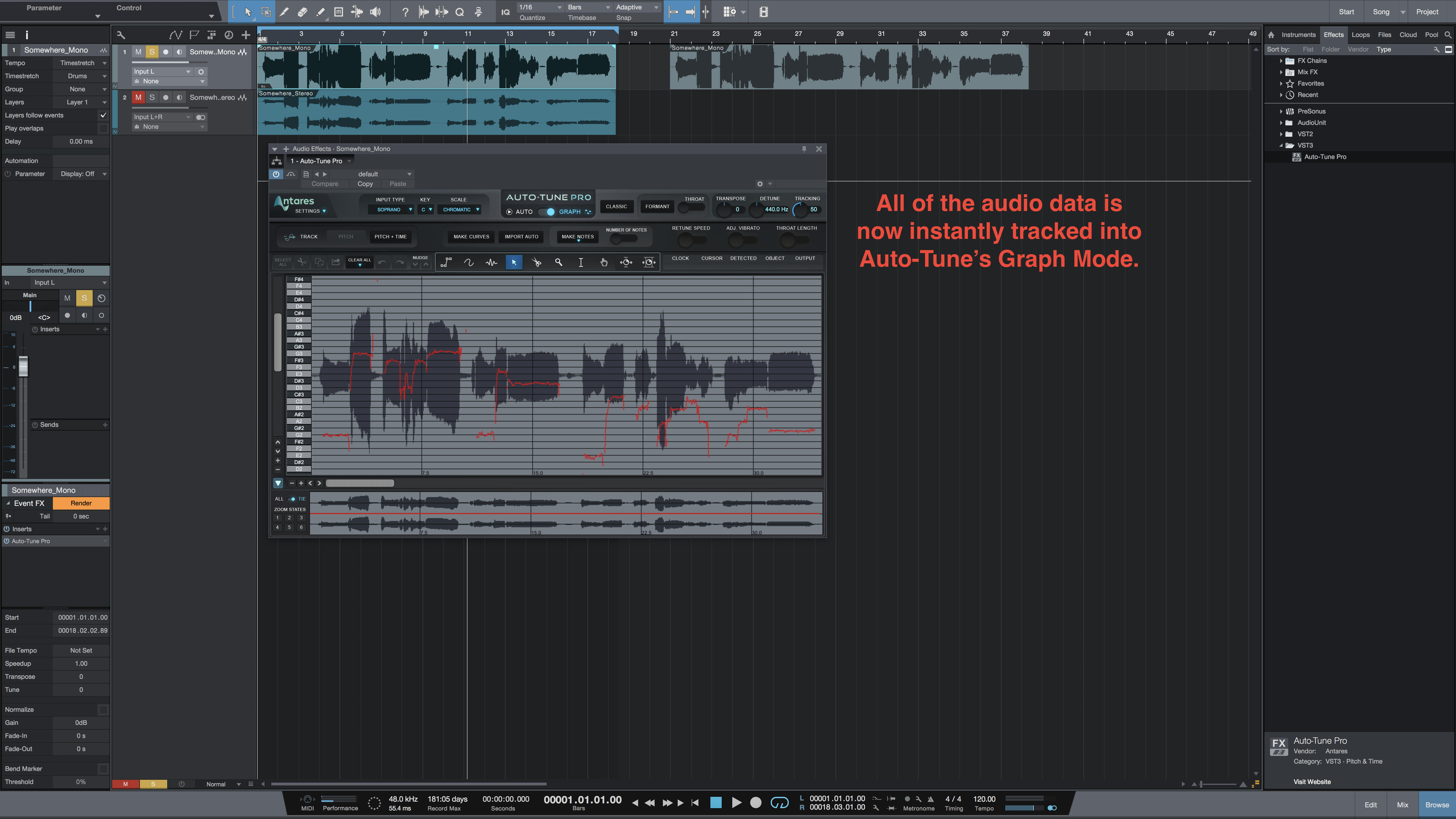 How to insert Auto-Tune Pro as an ARA plug-in in Studio One