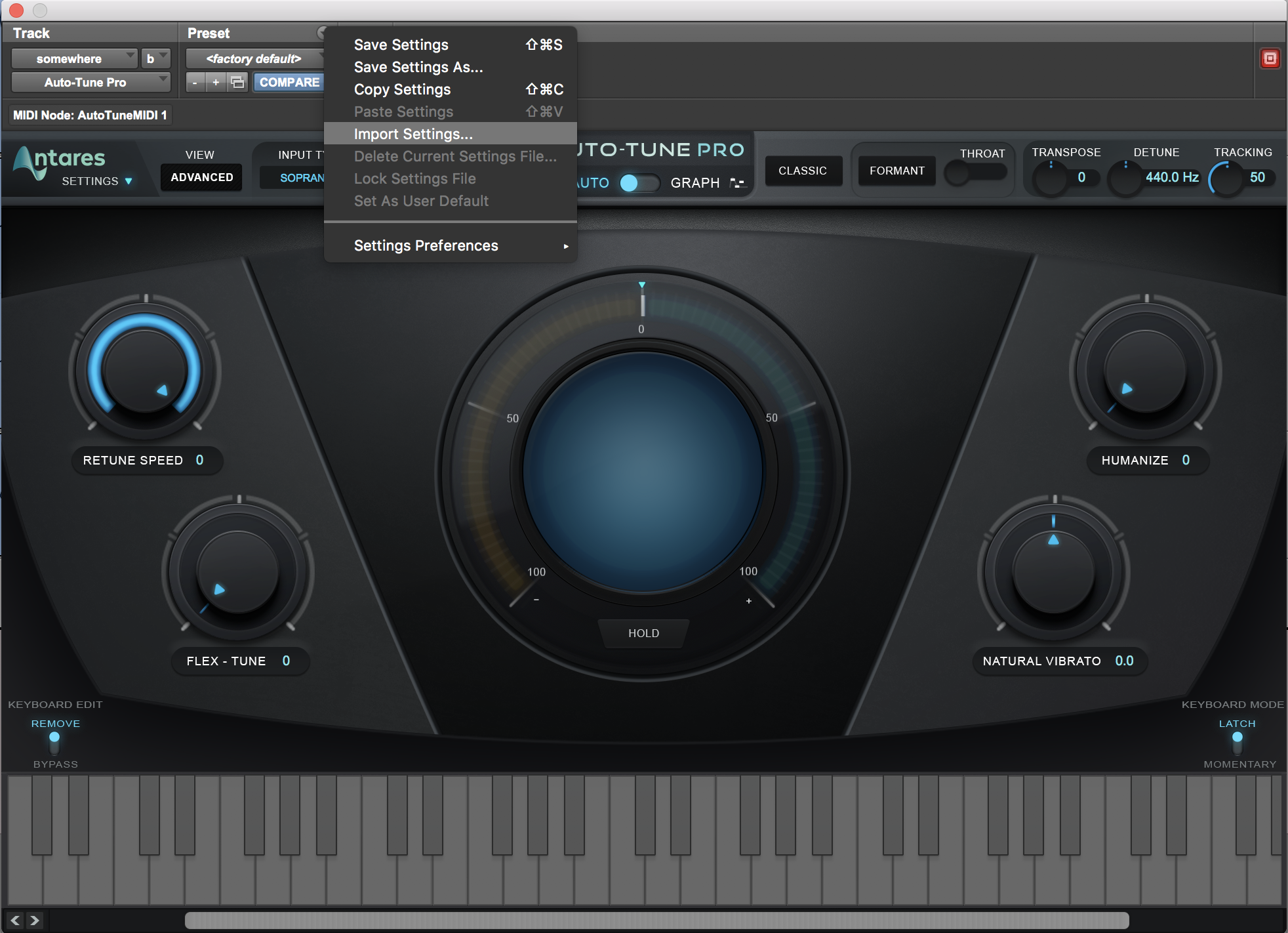 Importing an Auto-Tune 8 1 AAX preset in to Auto-Tune Pro