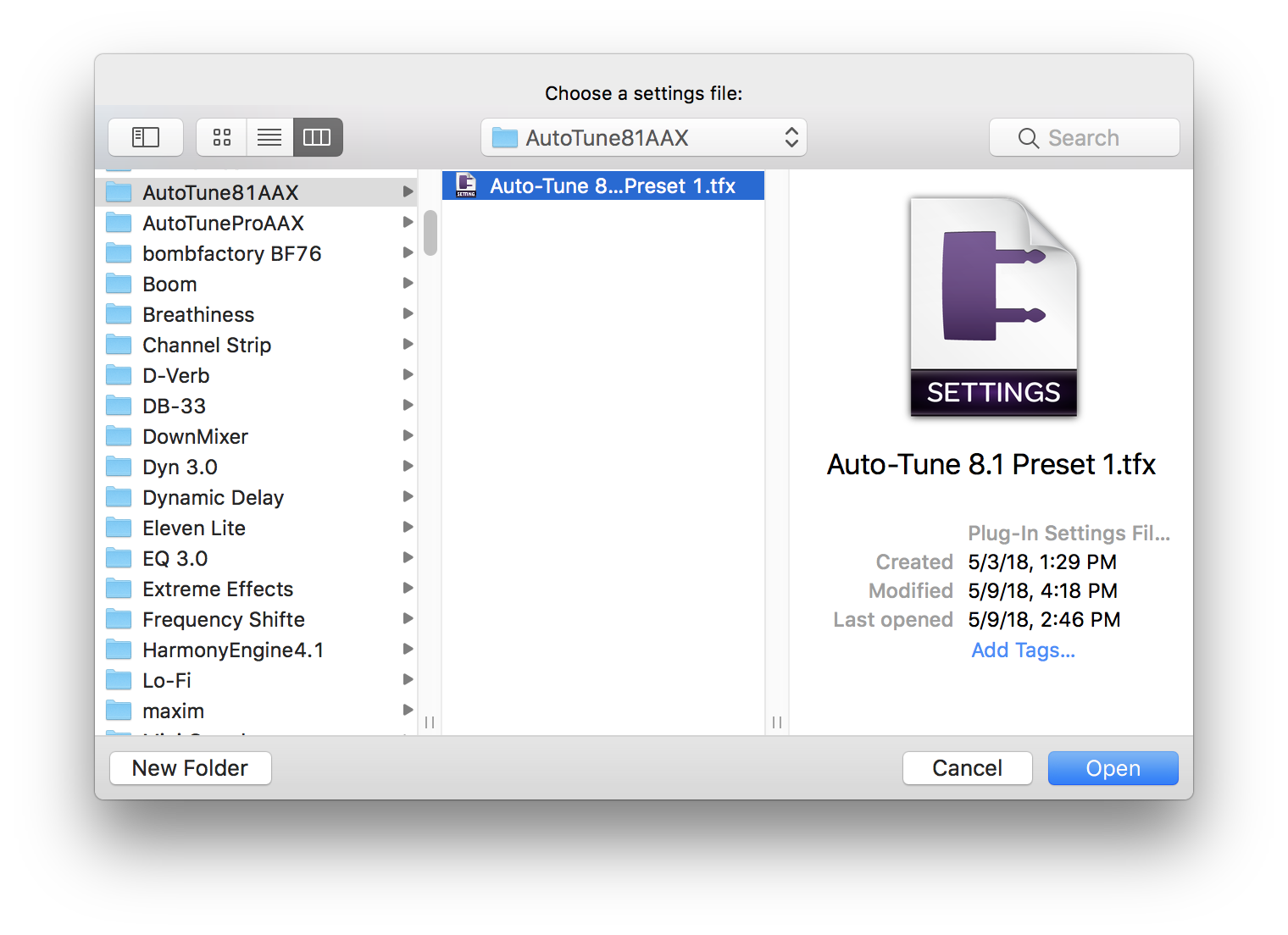 Importing an Auto-Tune 8 1 AAX preset in to Auto-Tune Pro AAX in Pro