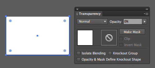 Transparency setting applied