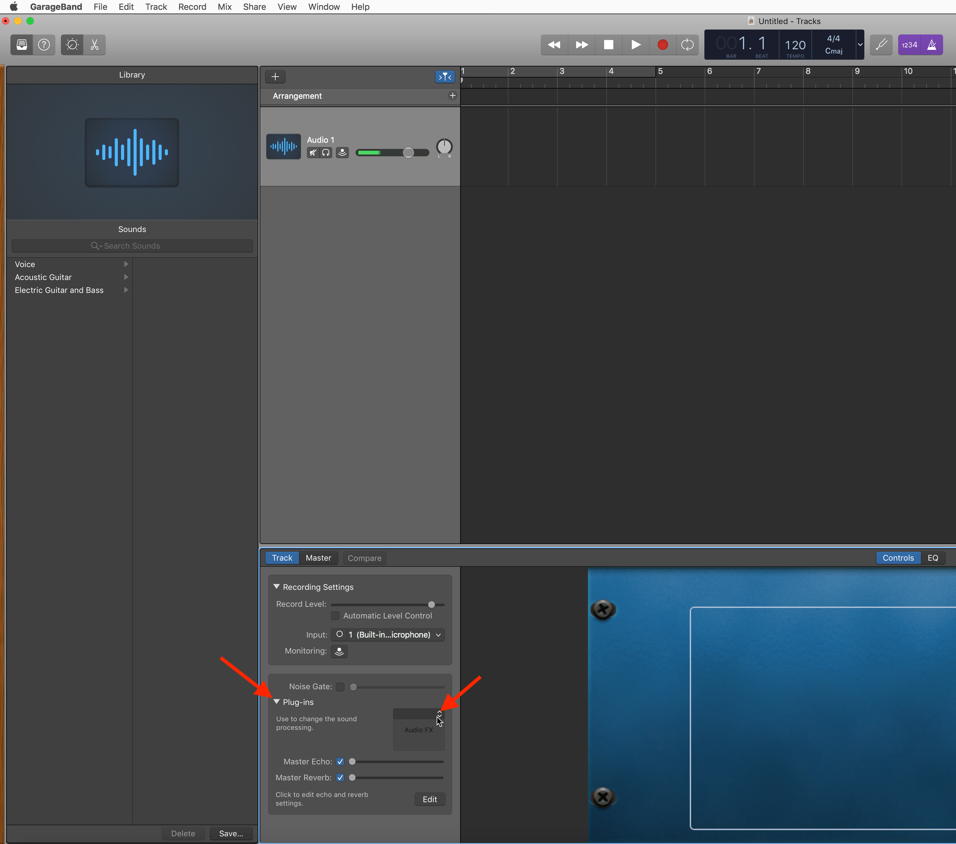How to Open a Plug-in in GarageBand 10 : Antares Help Desk