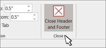 The Close Header button