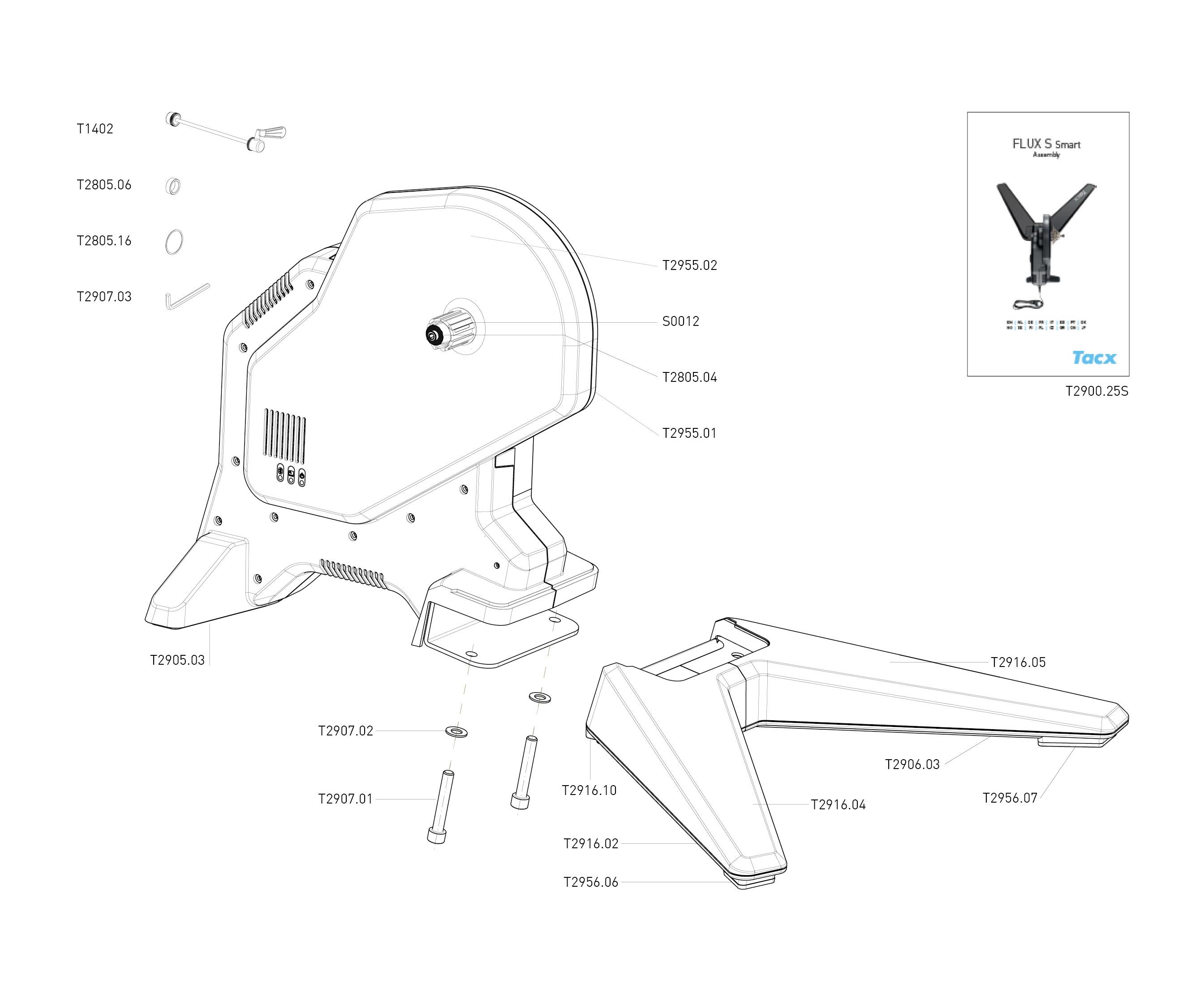 Схема с деталями TACX Flux S Smart