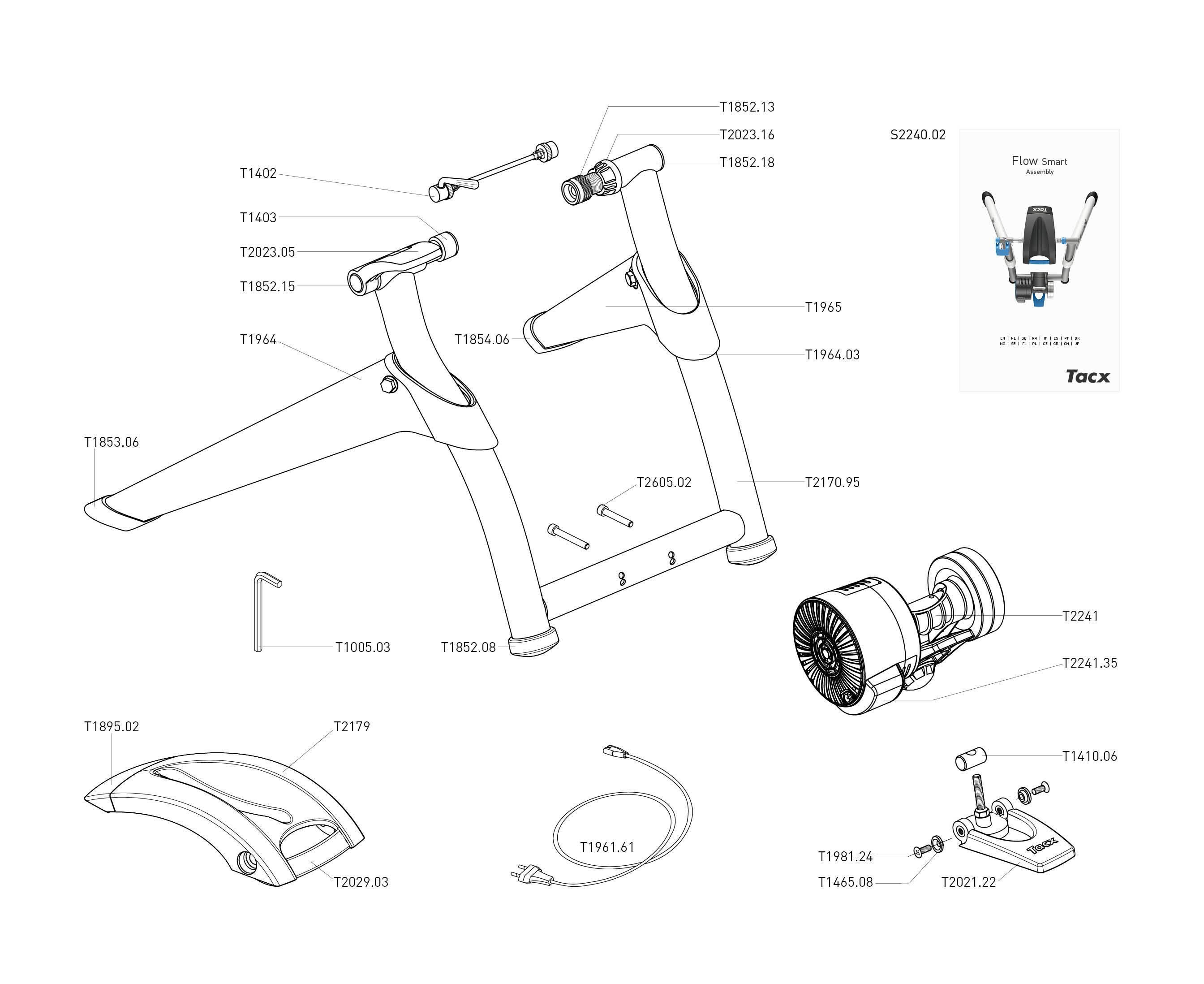 Схема тренажера TACX Flow Smart