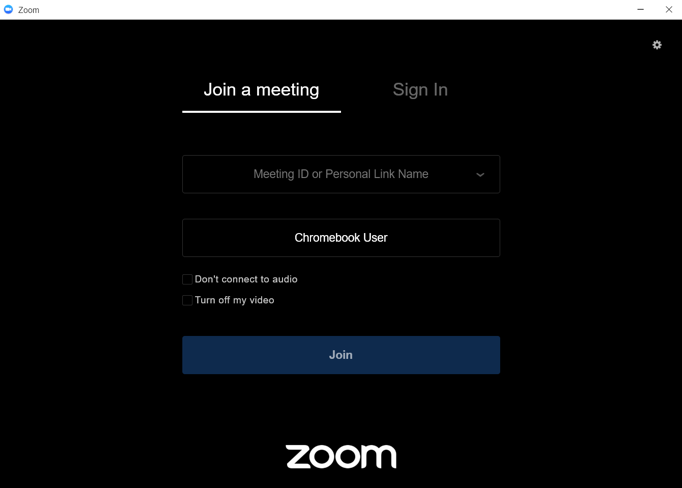 Sign in to Zoom on a chromebook