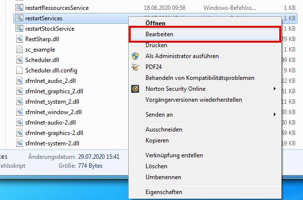Das Bild zeigt, wie man eine Datei im Dateipfad von unicorn 2 bearbeitet.