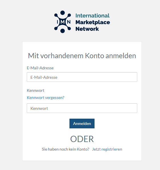 Das Bild zeigt den Internetauftritt von IMN.