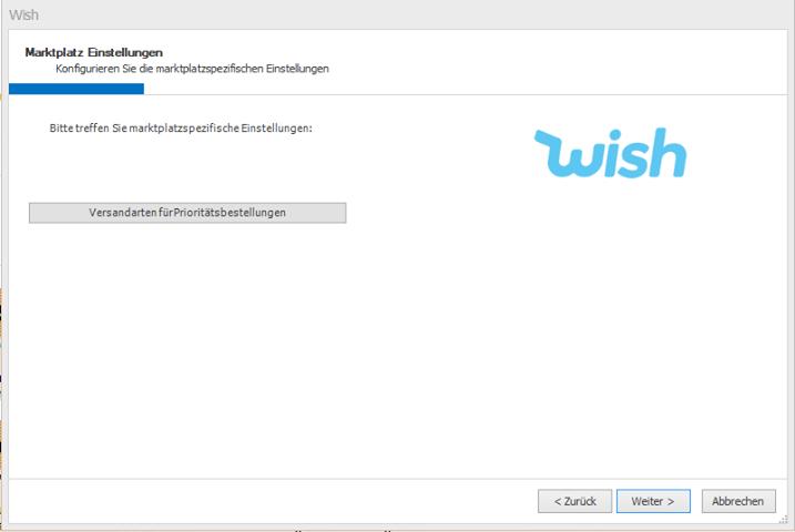 Das Bild zeigt die Anbindung von Wish in unicorn 2.