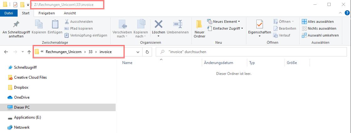 Das Bild zeigt die Ordnerstruktur von Windows 10.