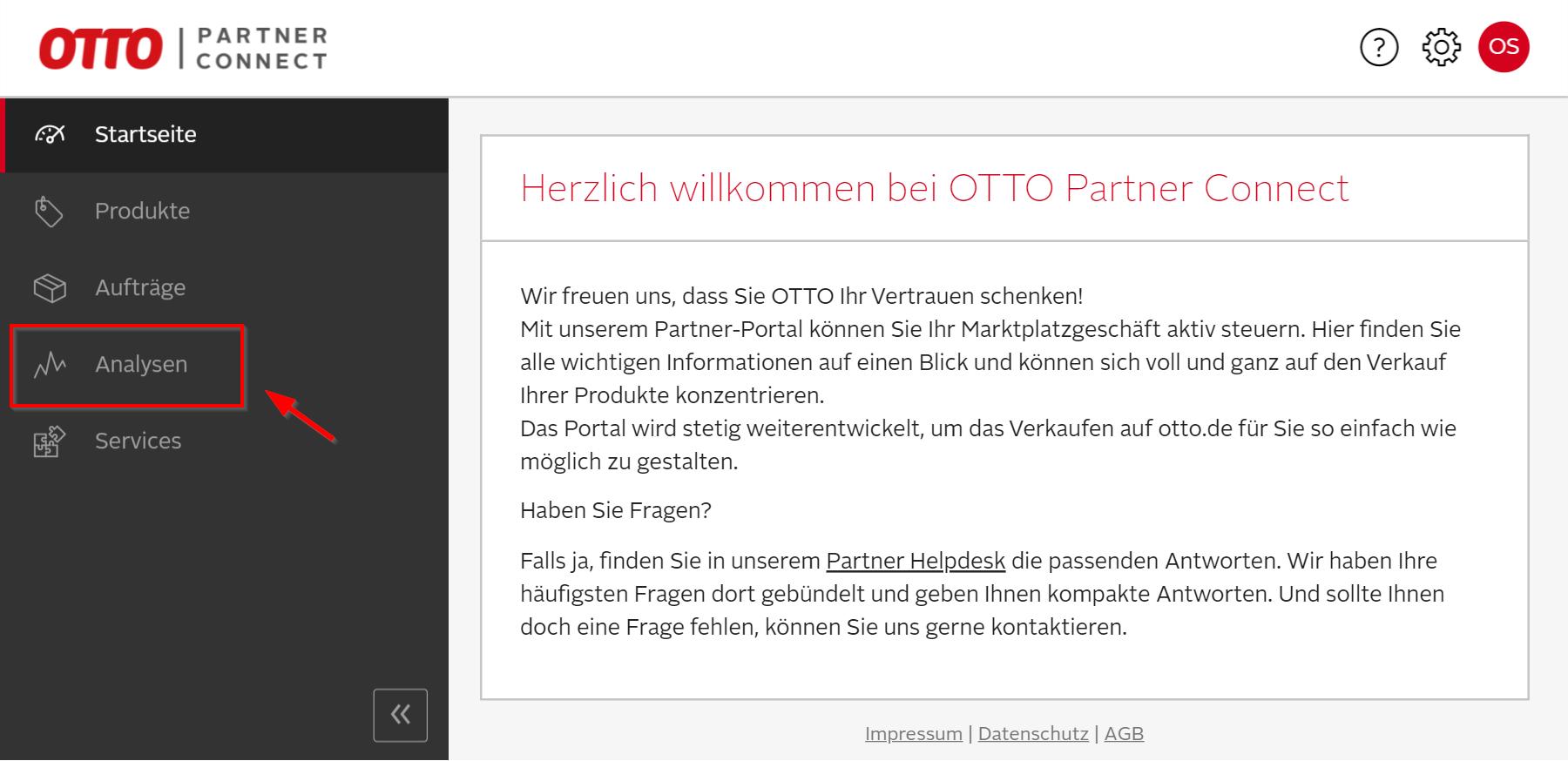 Das Bild zeigt die Analysen im OPC von OTTO Market.