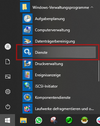 Das Bild zeigt die Oberfläche von Windows 10.