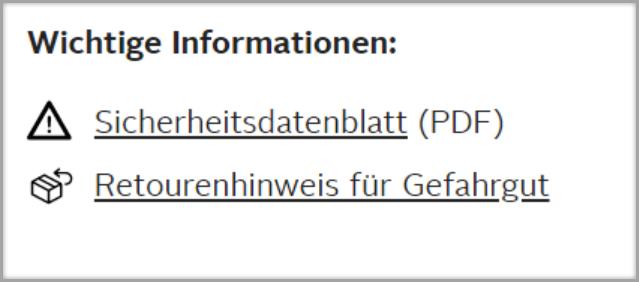 Das Bild zeigt die linke obere Ecke von Freshdesk, sowie die URL von einem Artikel.Das Bild zeigt einen Gefahrguthinweis auf otto.de.