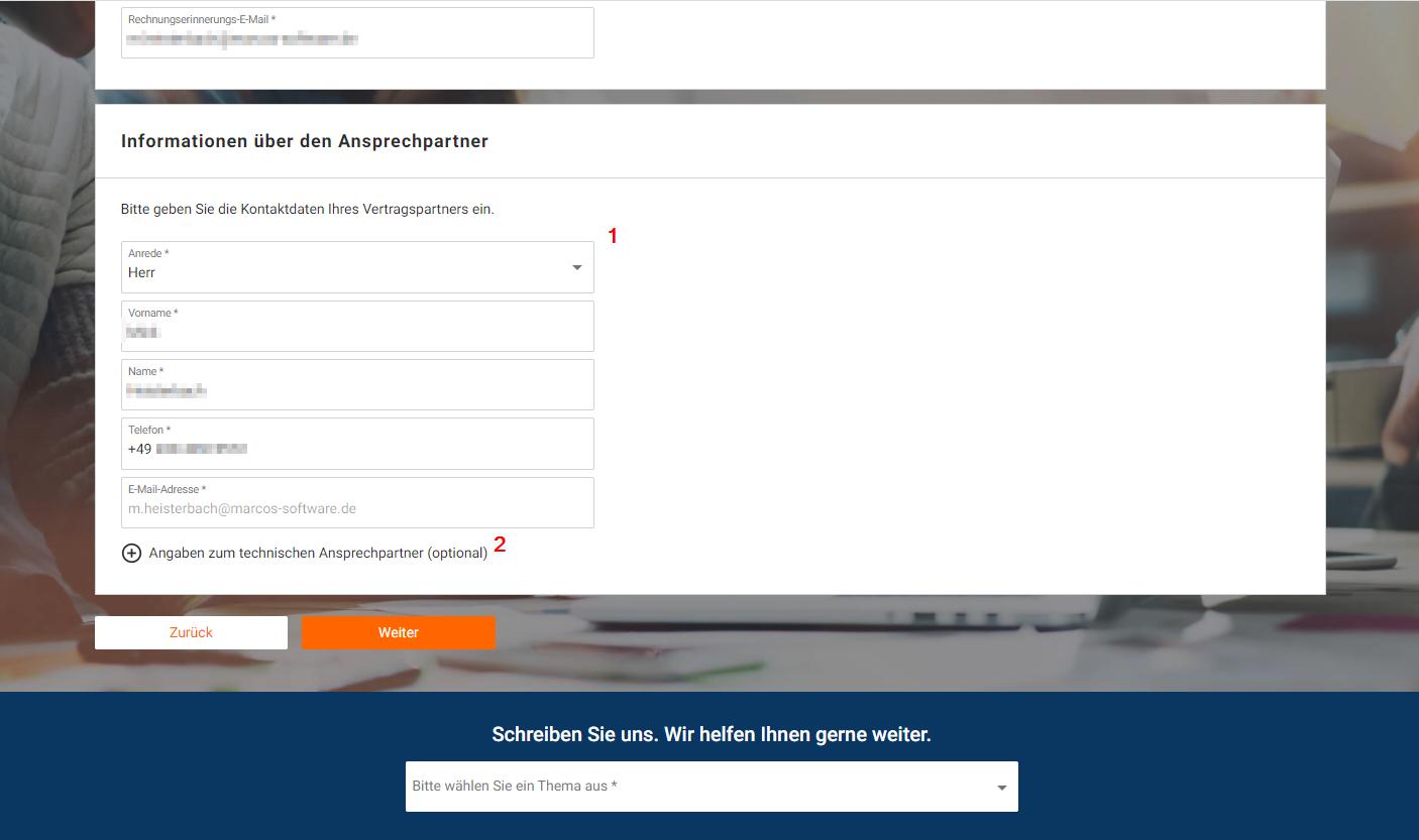Das Bild zeigt die Registrierung auf idealo Business.