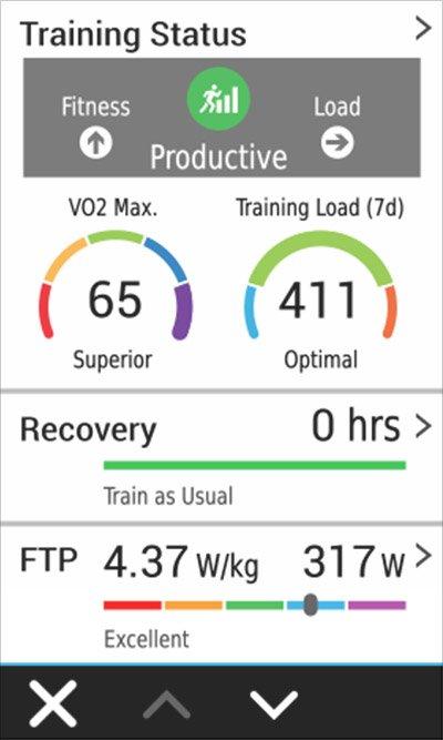 An Edge device screen showing training status.