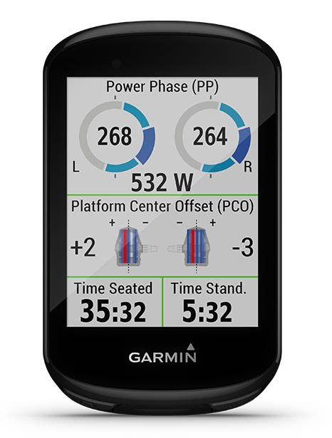 Image of an Edge 1000 cycling device with a cycling dynamics screen.