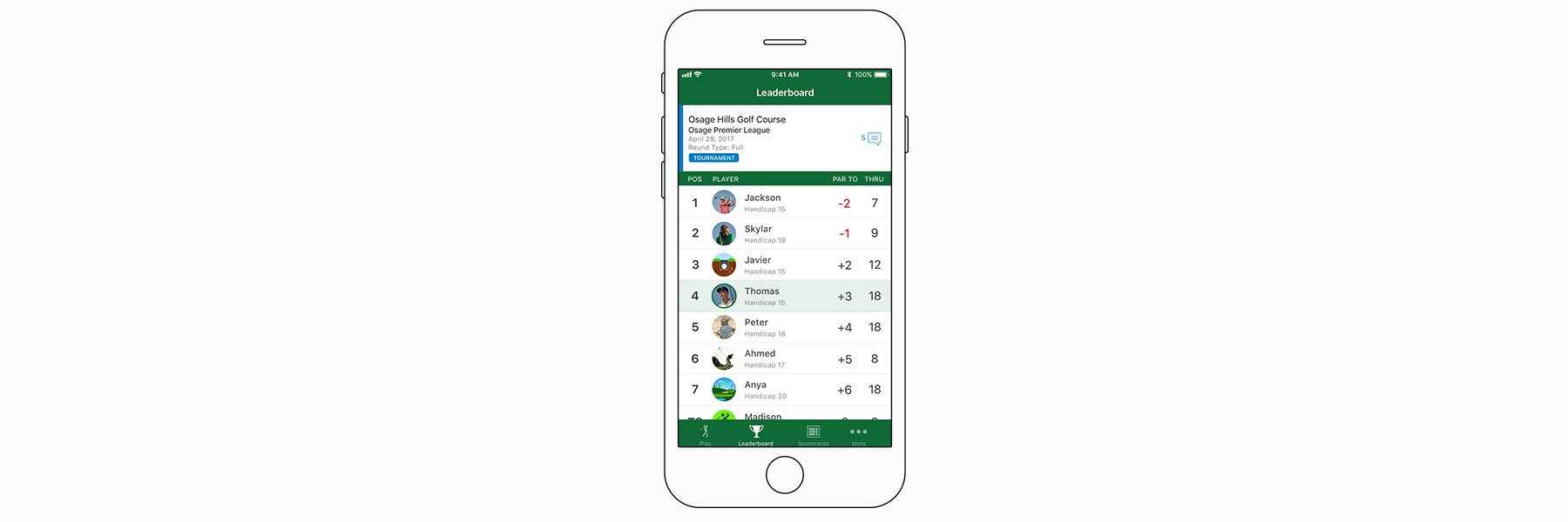 Leaderboards and tournaments - Garmin Golf™ App
