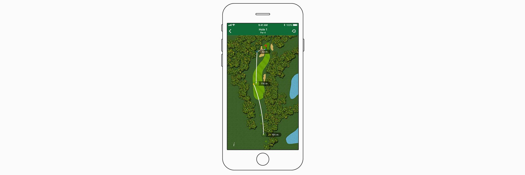 Shot maps - Garmin Golf™ App
