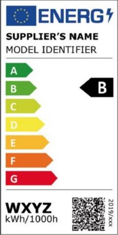 Das Bild zeigt den neuen EU-Energiepfeil für Lichtquellen.