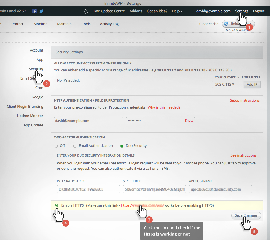 How to secure the admin panel? : InfiniteWP Support