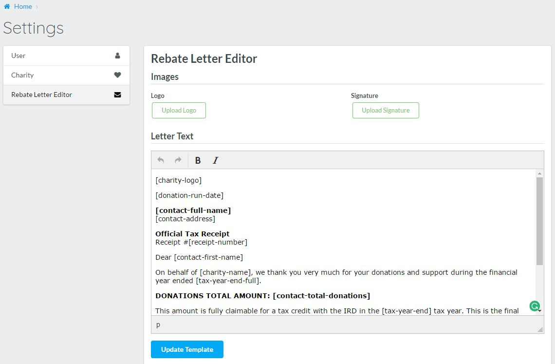 3 Receipt Letter Layout Design Donation Manager