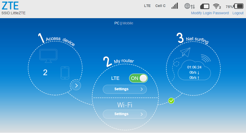 ZTE MF910+ LTE Router Set Up - Webafrica Support