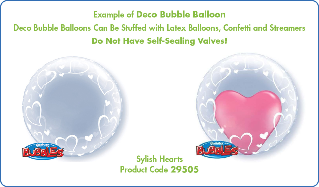 """Qualatex Deco Bubbles 20/"""" and 24/"""" Plastic Balloons Special Offer limited stock"""
