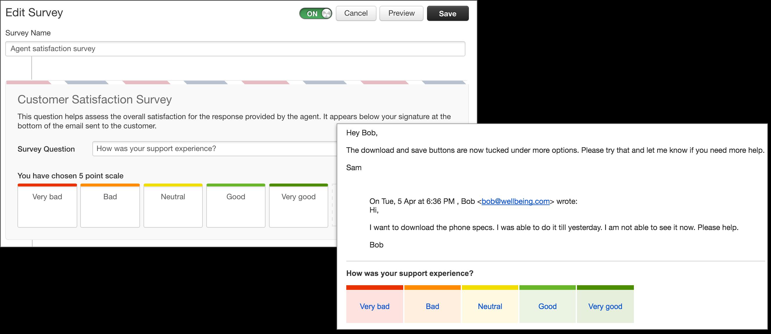 setting up customer satisfaction surveys freshdesk