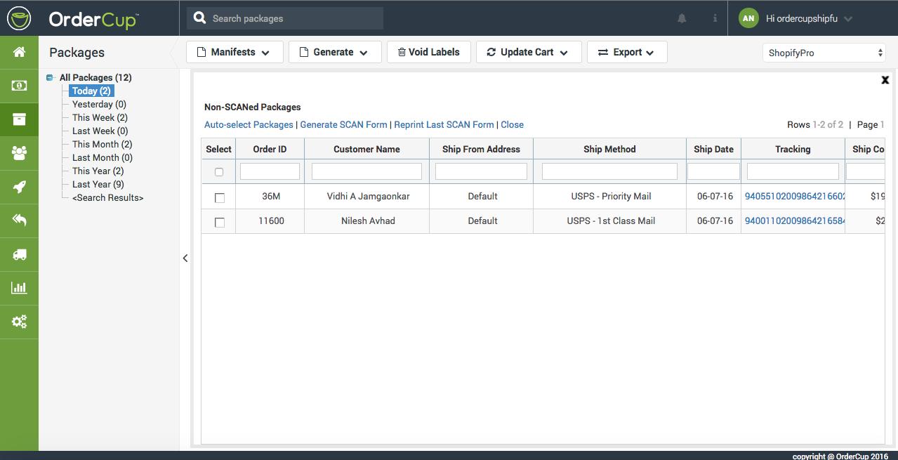 USPS Scan Form : Customer Support Portal