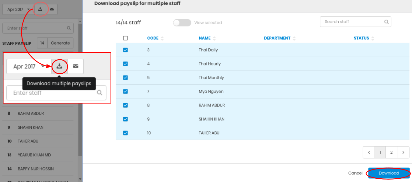 Knowledge Base - Download and email Payslip
