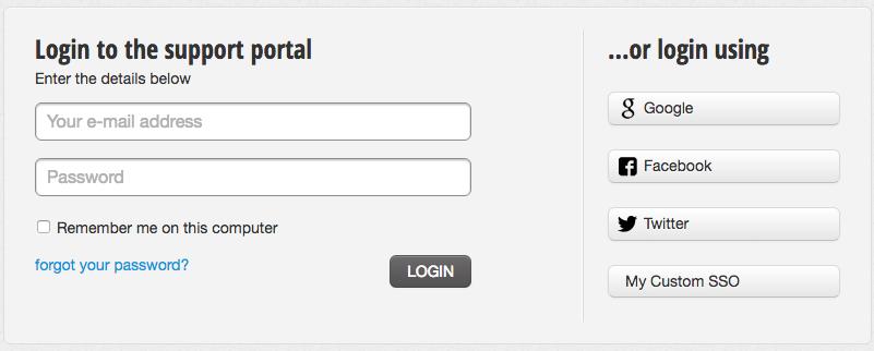 SSO and Normal login : Freshdesk