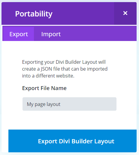 Exporting & Importing Individual Pages :