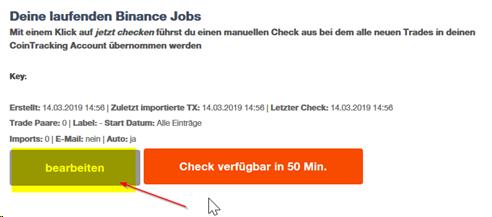 Binance API : Support Desk