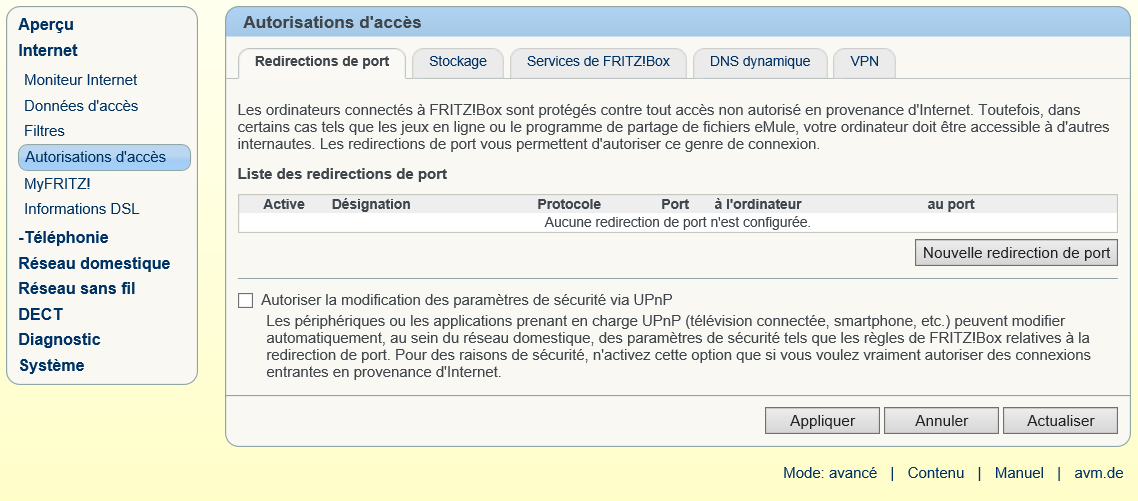 Comment configurer la redirection de port sur FRITZ!Box