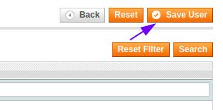 Save User button