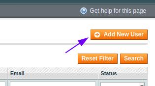 Add New User button
