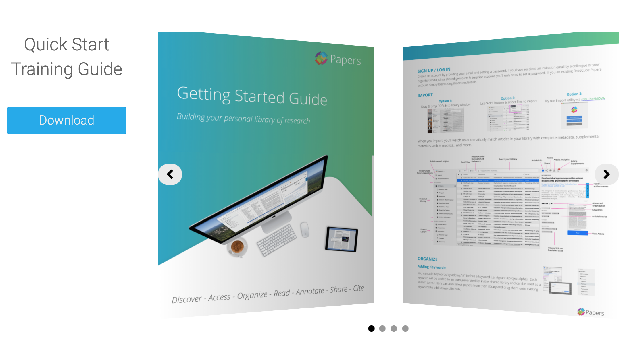 Getting Started Guide for ReadCube Papers Enterprise