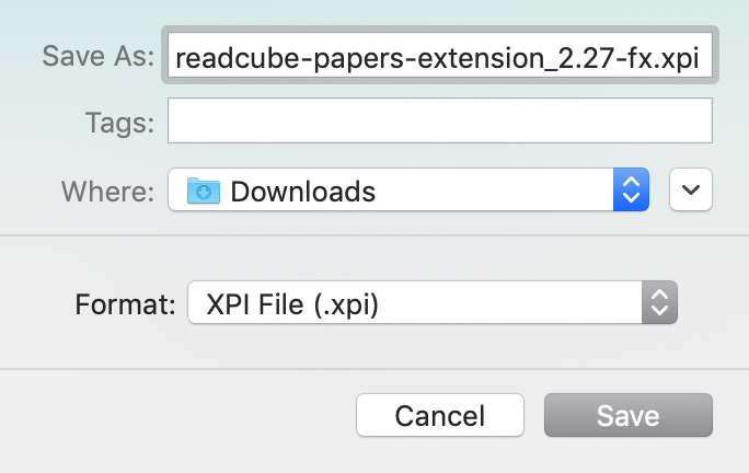 Screenshot of ReadCube Papers Browser Extension Download for Firefox