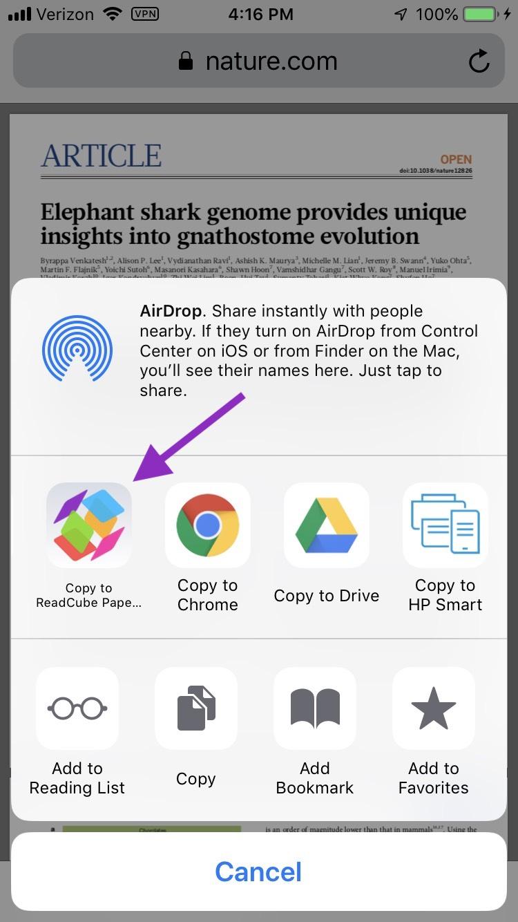 Readcube App