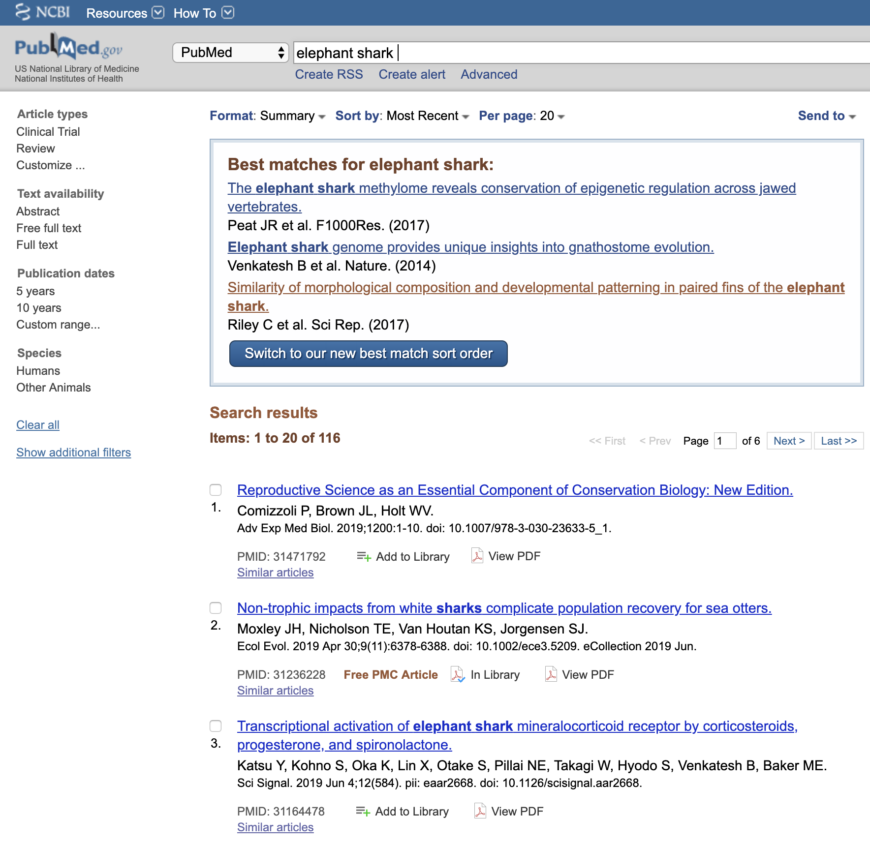 ReadCube Papers Browser Extension on PubMed Search Query in Firefox