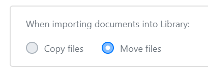 Copy or Move setting
