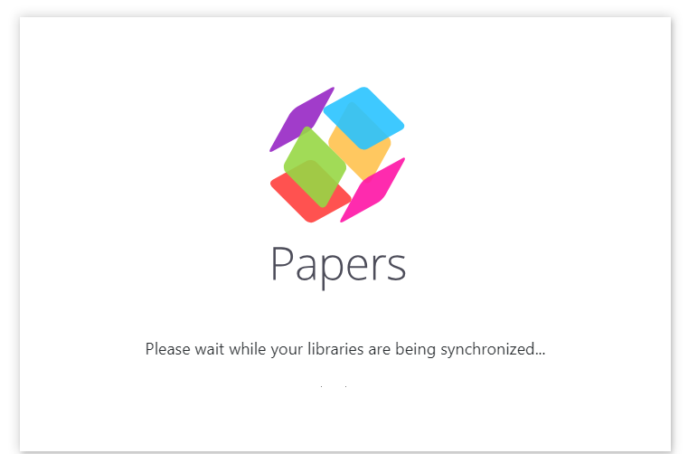 ReadCube Papers Syncing Screen