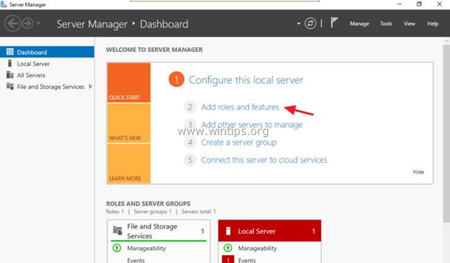 agregar servidor de servicios de directorio activo 2016