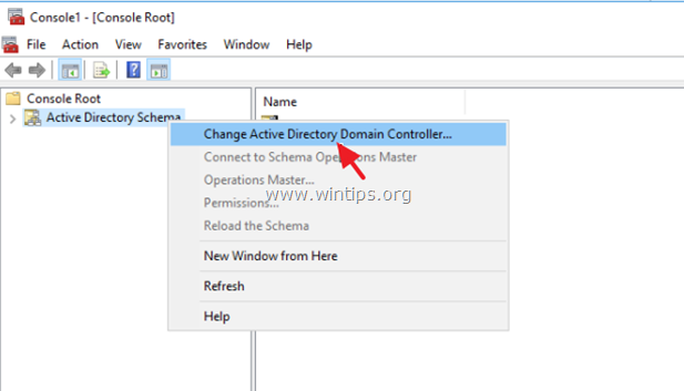 cambiar el controlador de dominio del esquema del directorio activo