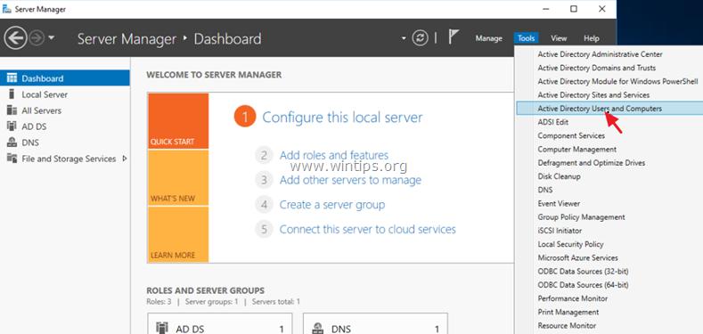 Transfiera el rol de Masters de operación al servidor 2016.