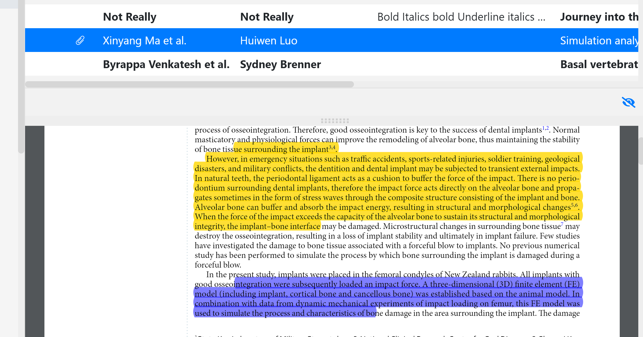 Preview annotations on Papers app