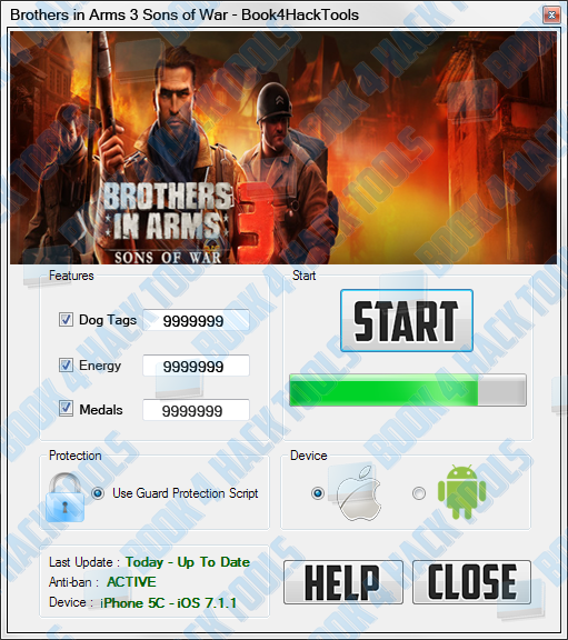 2015 GIFT] Brothers in Arms 3 Sons of War Hack Cheats V1.5.1 Dog Tags